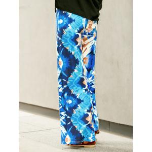 Wide Leg Printed High Waist Flowy Pants -