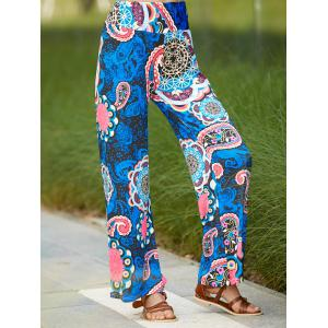 Ethnic Paisley Wide Leg Exumas Pants For Women