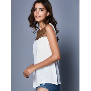 Stylish Sleeveless Hollow Out Splice Women's Tank Top -