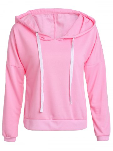 Small PINK Hooded Long Sleeve Pullover Hoodie