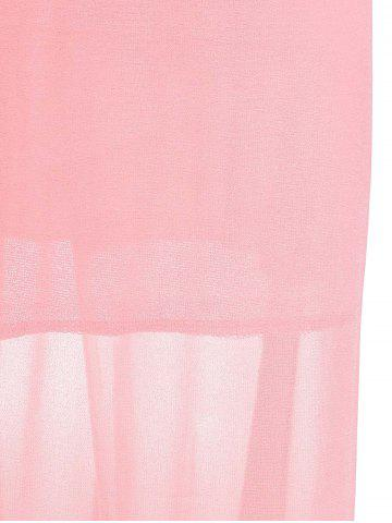 Shops Plunging Neck Sleeveless Backless Formal Party  Dress - L PINK Mobile