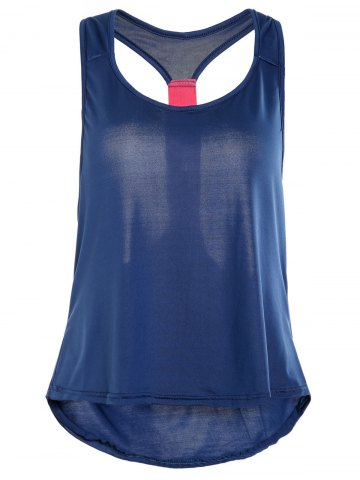 Affordable Stylish Hit Color Racerback Yoga Tank Top For Women