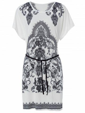 Affordable Casual Scoop Neck Short Sleeve Loose-Fitting Printed T-Shirt For Women