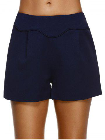 Affordable Fashionable High-Waisted Solid Color Slimming Women's Shorts