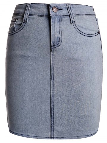 Cheap Sexy Buttoned Skinny Denim Skirt For Women