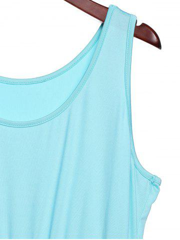 Buy Bohemian Scoop Neck Zigzag Sleeveless Dress For Women - XL COLORFUL Mobile
