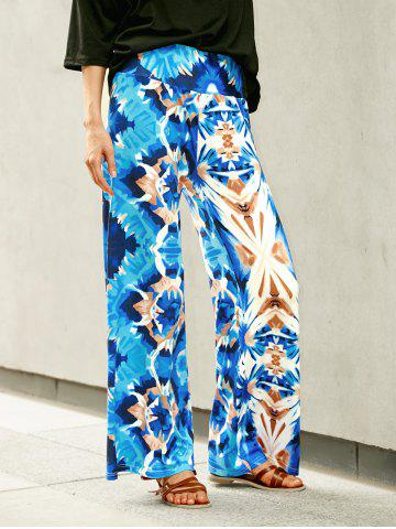 Online Wide Leg Printed High Waist Flowy Pants