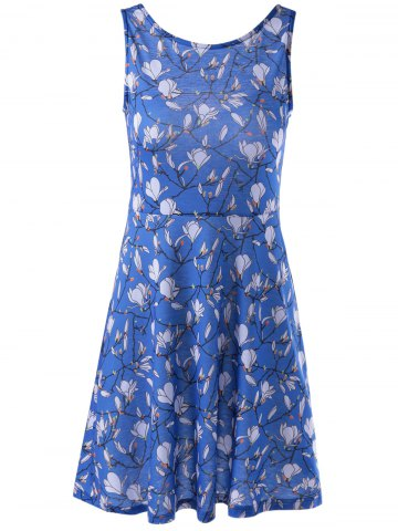 Chic Fashionable Printing Vest Dress For Women COLORMIX XL
