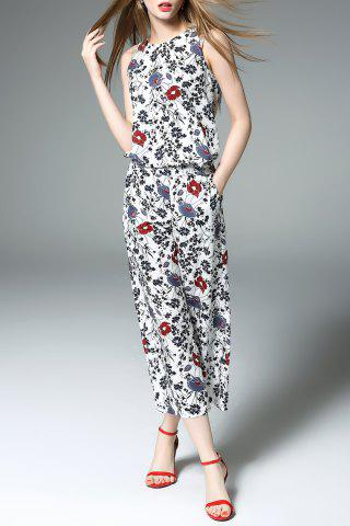 Store Print Tank Top and Wide Leg Pants