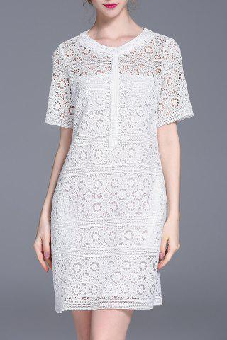 Latest Cut Out Straight Lace Dress