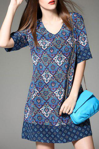 Shops V-Neck Print Dress