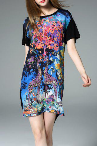 Store High Low Print Dress