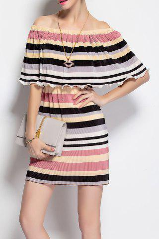 New Off The Shoulder Striped Dress