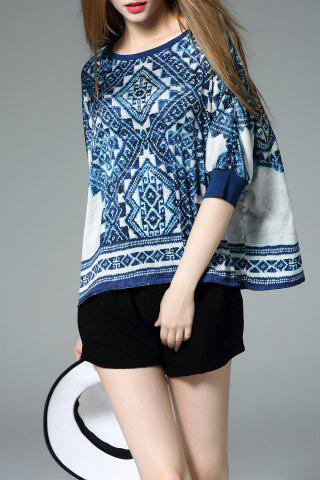 Online Loose-Fitting Print Blouse