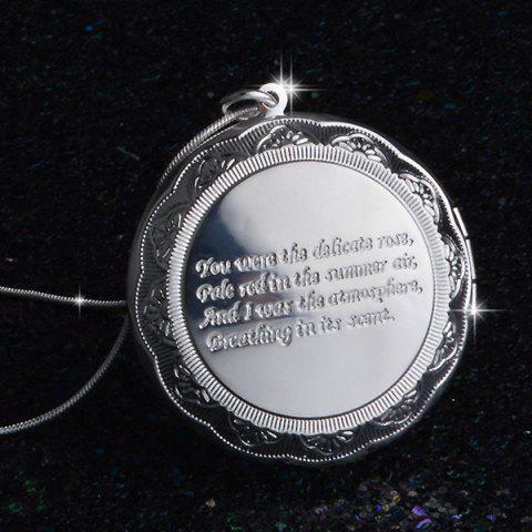 Shops Gorgeous Engraved Letters Round Necklace For Women