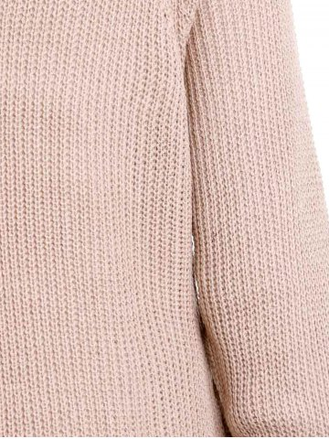 Cheap Stylish Turtle Collar Long Sleeves Solid Color Women's Jumper - XL LIGHT APRICOT Mobile