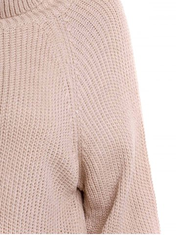 Best Stylish Turtle Collar Long Sleeves Solid Color Women's Jumper - XL LIGHT APRICOT Mobile