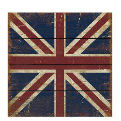High Quality Union Flag Pattern 30*30CM Square Wood Painting -