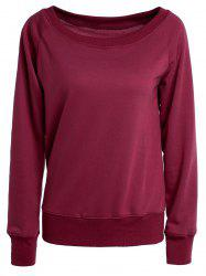 Chic Women's Pure Color Long Sleeve Sweatshirt