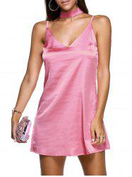 Mini Slip Satin Vestido Dress -