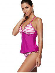 Cami Strap Stripe Padded Tankini Sets -