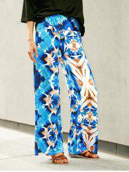 Wide Leg Printed High Waist Flowy Pants