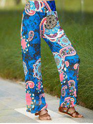 Ethnic Paisley Wide Leg Exumas Pants For Women -