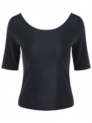 Casual Round Collar Half Sleeve T-shirt For Women