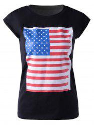 Casual Round Neck Colorful Print Sleeveless T-Shirt For Women