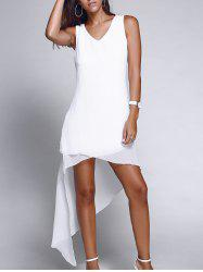 Asymmetric Hem Chiffon Casual Dress
