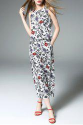 Print Tank Top and Wide Leg Pants -