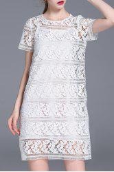 Cut Out Lace Dress and Cami Dress Suit -