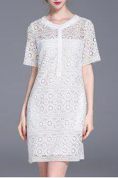 Cut Out Straight Lace Dress -