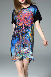 High Low Print Dress -