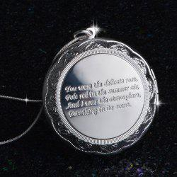 Gorgeous Engraved Letters Round Necklace For Women -