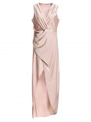 Plunging Neck High Slit Maxi Jersey dress