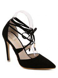 Stylish Pointed Toe and Black Design Sandals For Women
