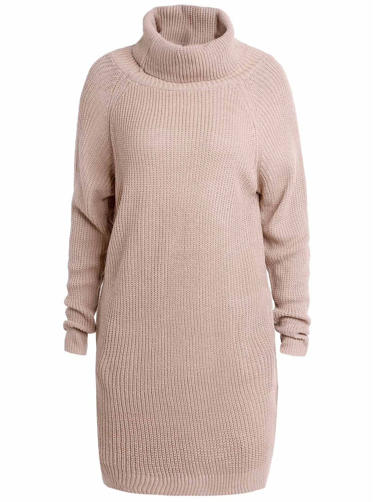 Buy Stylish Turtle Collar Long Sleeves Solid Color Women's Jumper