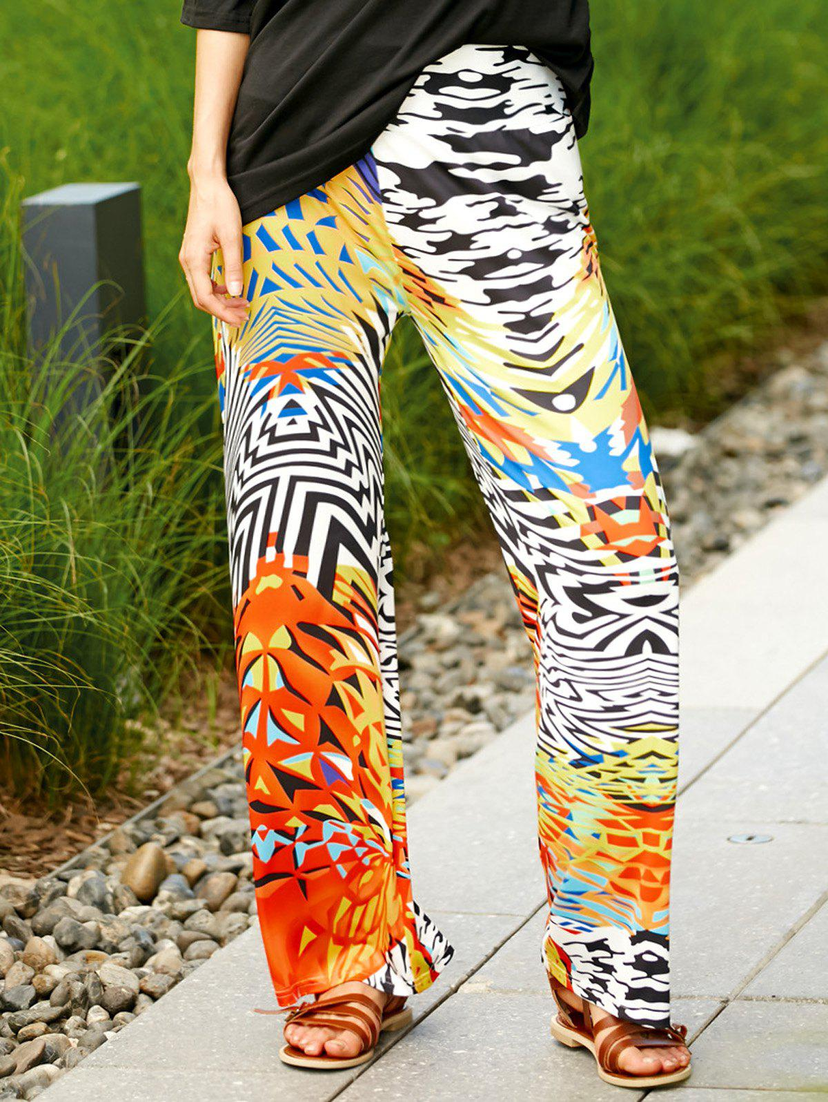Trendy Colorful imprimé ethnique larges Pantalon de femme