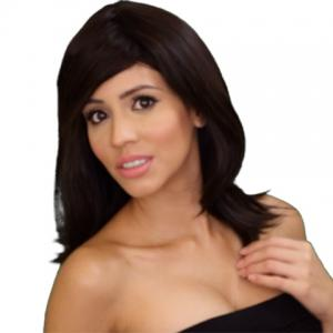 Fashion Full Bang Bob Style Heat Resistant Synthetic Capless Medium Wig For Women
