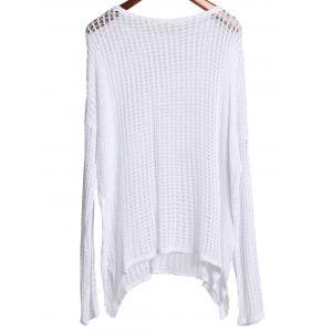 Stylish Round Neck Long Sleeve Hollow Out Women's Cover-Up -