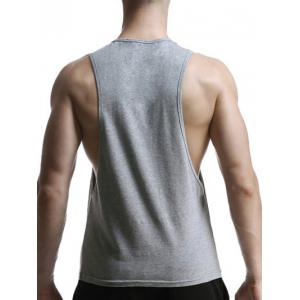Round Neck Geometric Print Cotton Blends Tank Top For Men -
