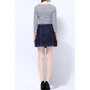 Button Through Denim Skirt -