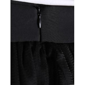 Stylish Solid Color Bud Voile Midi Skirt For Women -