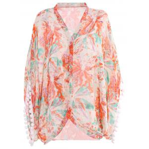 Printed Summer Kimono Beach Cover Up
