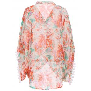Printed Summer Kimono Beach Cover Up -