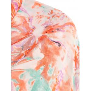 Printed Summer Kimono Beach Cover Up - COLORMIX M