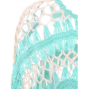Sexy Jewel Neck Openwork Dolman Sleeve Bikini Cover-Up For Women - GREEN ONE SIZE(FIT SIZE XS TO M)