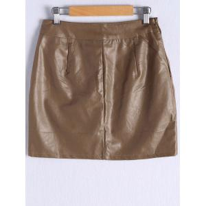 Faux Leather Skirt -