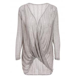 Stylish Loose-Fitting Solid Color Long Sleeve Knitwear For Women